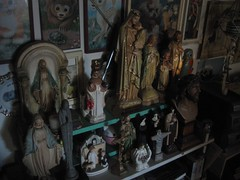 Dawn In My House Full Of Junk (A.Currell) Tags: saint joseph religious dawn junk icons catholic cross mary jesus saints statues naturallight kitsch icon nun noflash nuns collection collections myhouse crucifix thriftstore statuary knickknacks curios curio infantofprague thepassion catholica geegaws livinglikesanfordandson