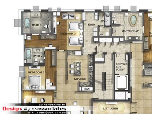 2D Layout Plan Rendering