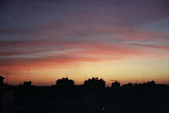 Nice Colors Again (Or Hiltch) Tags: sunset red film yellow clouds 35mm israel iso200 rishon  kodakgold200 nikonf301 rishonlezion orhiltch