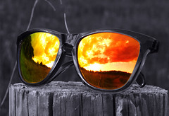 Sunset Reflections (WisDoc) Tags: sunset sunglasses wisconsin canon reflections interestingness bravo searchthebest verona oakley interestingness9 selectivecolor payitforward i500 wisdoc specnature gtaggroup goddaym1 spselection gtagselected