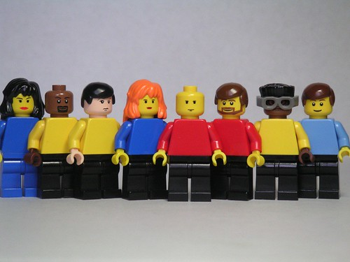The crew of NCC-1701-D Enterprise