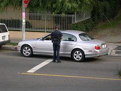 Large scary policewoman. (Eleventh Earl of Mar) Tags: california car speed silver random large police ticket pigs cop hate copper chp vehicle motor jaguar sfv filth desperation stephenking nuisance pulledover woodlandhills tarzana rozzer theoldbill stype bigwoman glorifiedtrafficwardens notreallyproperpolicearetheyletsfaceit