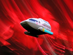 Daring Escape through the Marino Nebula (Linus Gelber) Tags: startrek toy toys scifi cobblehill sciencefiction enterprise shuttlecraft ncc1701d berman utatatoys cobblehillpark