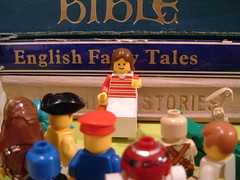 Are You Sitting Comfortably? (Kaptain Kobold) Tags: lady starwars lego notes lol pirates hats books onceuponatime monthlyscavengerhunt bible minifigs stories wookie msh fairytales storyteller droids kaptainkobold msh0606 msh060612