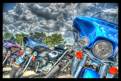 Leaning Left (like Austin) (Stuck in Customs) Tags: sky rot clouds austin texas harley harleydavidson motorcycle hog hdr hogs rotbikerrally stuckincustoms