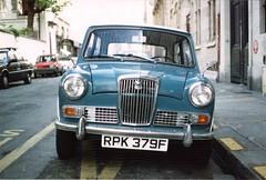 Blue Car in Paris