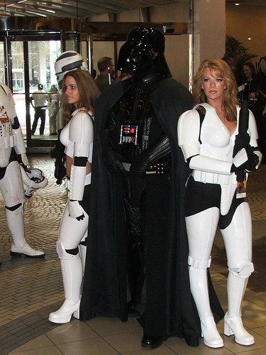 Darth Vader with sexy women