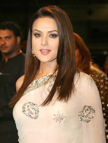 indian hairstyles for long hair. Preity Zinta long hairstyle