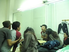 dressing room antics (grouchiosa) Tags: studio indonesia la couple jakarta bandung pendulum voila aksara june2006