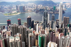 View from the top (moonux) Tags: china city skyline hongkong topv999 vista victoriapeak victoriabay