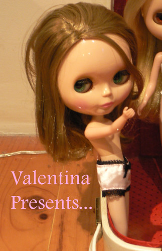 Her name is Valentina. She is named after a russian soft porn model...called Valentina. (a Galitsin girl -for those familiar with soft porn)