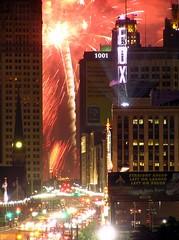 launch pad (joojanta) Tags: longexposure usa june night mi skyscraper spectacular fire downtown nightshot fireworks michigan tripod detroit olympus 2006 firework inferno rocket 28 burst aussicht sparks feuer uncropped funken ausblick feuerwerk spektakel motown c770uz funke knaller rakete obergeschoss joojanta 062806