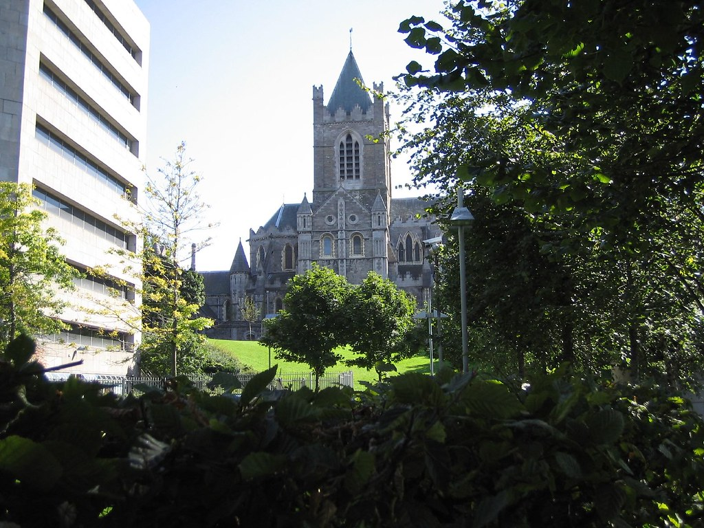View of Christ Church from Wood Quay