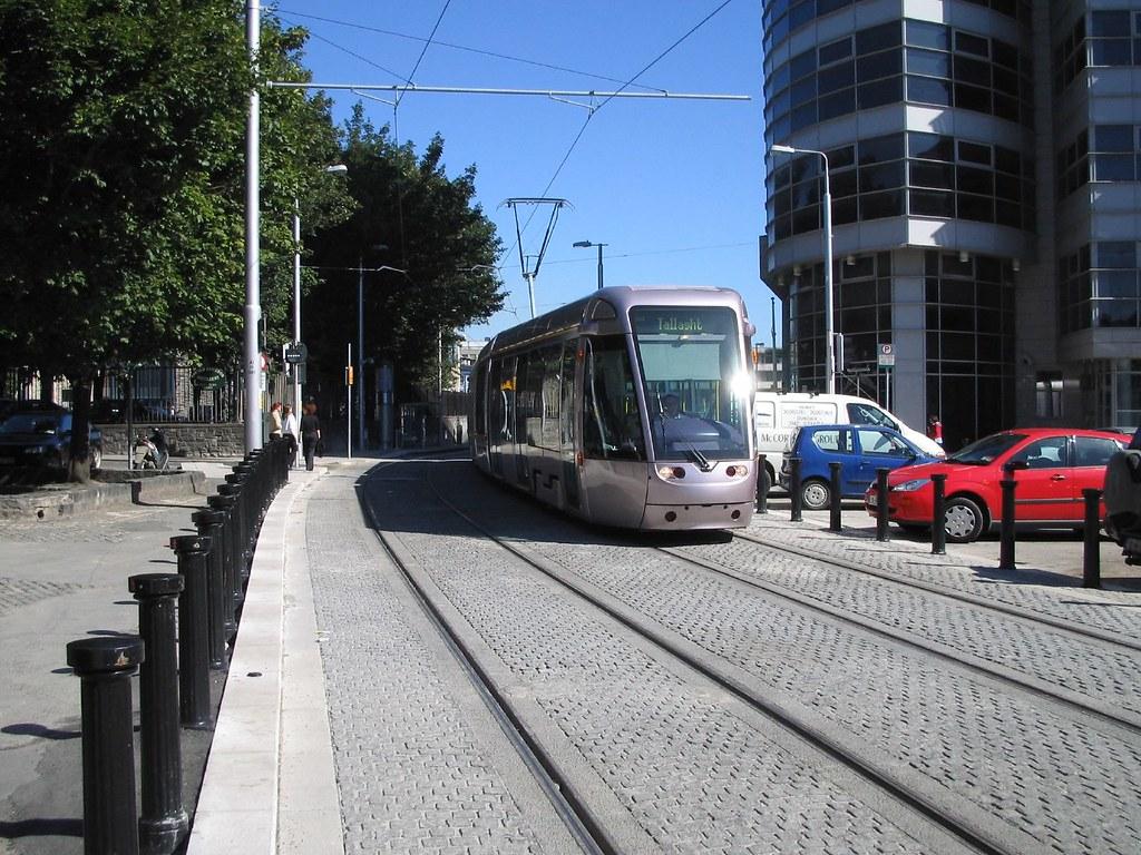 Tram at Smithfield, Dublin