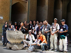 All of Us in Masjed Jame' (Hamed Saber) Tags: architecture geotagged persian flickr meetup iran persia mosque 2nd saber gathering iranian  groupshot esfahan hamed islamic isfahan flickrmeetup jame farsi   flickrites  masjed flickies  jameh   2endmeetingofiranianflickrphotographers isfahanphotographytour      geo:lat=32665968 efahn geo:lon=51656341 flickr:user=hamedsaber