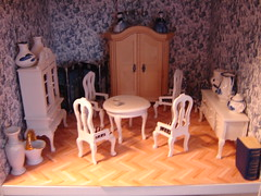 A peaceful day in the dollhouse (Anna Amnell) Tags: cat toys miniatures miniatura dollhouse kissa greycat munecas puppenhaus nukkekoti catinthedollhouse kissanukketalossa nukketalo