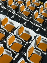 Shadows under Saffron Seats (Tom Q) Tags: deleteme8 white yellow shadows savedbythedeletemegroup fv5 saveme10 seats bermuda wildcat repeating flickrhits
