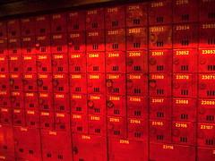 PO boxes @ Hong Kong Museum of History (jade_c) Tags: red hongkong  hongkongmuseumofhistory favcol xgf02 x0201 x0202 x0203