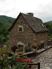 Belcastel (*Mrs C*) Tags: france window cross stained staircase knight aveyron midipyrenees belcastel beauxvillages