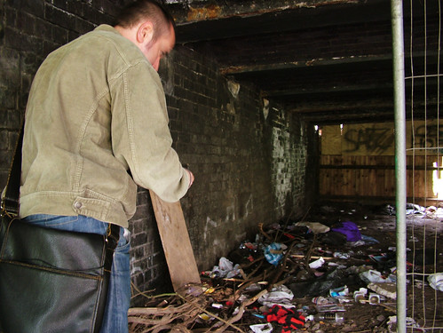Pete Ashton stumbles across a 'shelter' for homeless people in Birmingham