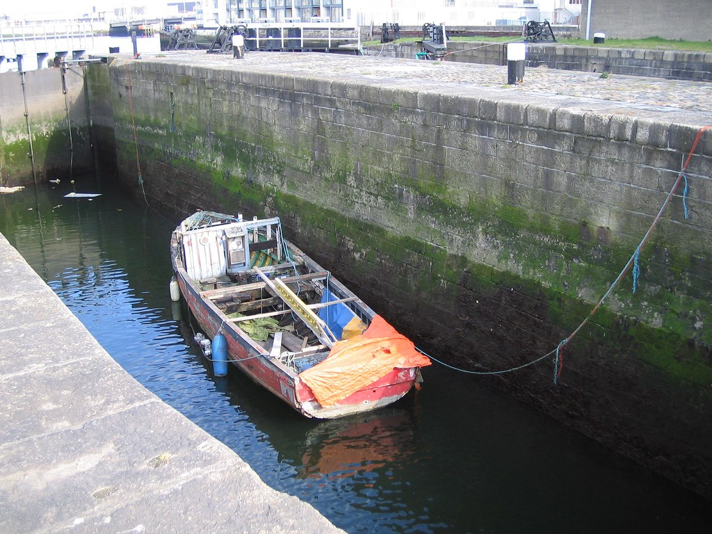 BOAT IN CANAL LOCK