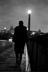 (Nocturnales) Tags: street bw film noir prague streetphotography praha czechrepublic rue thebrightestspot brighest mikaelmarguerie