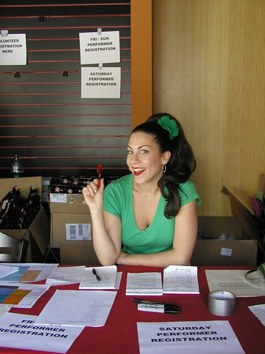 Gigi Signing in Performers at Exotic World 2006