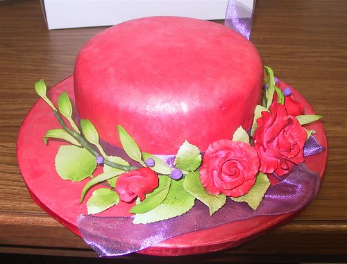 roses birthdaycake redhatsociety fondant sugarflowers specialoccassioncakes redhatbirthday