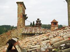Castle Bells (scampercom) Tags: roof italy bird castle bells moss italia roo