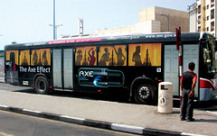 Axe Effect Bus (Arturo de Albornoz) Tags: ad ads advertising buses axe lowe publicidad outdoors dubai eau emiratosarabes bus