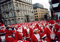 Crowd of Santa