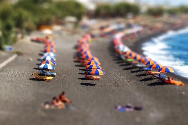 Kamari Beach, In miniature