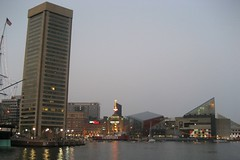 Baltimore - Inner Harbor: World Trade Center, Power Plant and National Aquarium (wallyg) Tags: night skyscraper aquarium harbor worldtradecenter maryland baltimore powerplant thepowerplant innerharbor nationalaquarium heritagewalk impei baltimoreinnerharbor pier3 patapscoriver pier4 nationalaquariuminbaltimore pentagonal prattstreetpowerplant pierfourpowerplant henrycobb peterchermayeff impeipartners pershingwong baldwinpennington cambridgesevenassociates