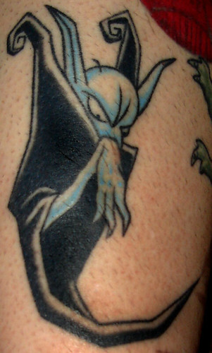Creepy Nosferatu Tattoo (Matt's)