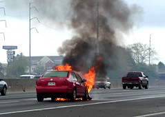 Someone's not having a good day (Toni Travels) Tags: atlanta car ga wow fire minolta z1 carfire i285 diamage