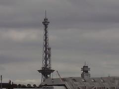Funkturm Berlin (Radio Tower Berlin) (a3rynsun) Tags: berlin tower monument radio germany deutschland heinrich sector lad british der funkturm bundesrepublik allies lange lanky lulatsch straumer