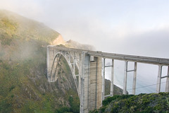 Bixby Creek Bridge II (Mat Malone) Tags: ocean california bridge water photoshop canon 350d coast bigsur tokina pch highway1 carmel rebelxt blending bixbybridge tokinaatx124
