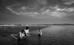 Three by the sea (Ray Byrne) Tags: sea blackandwhite bw seascape beach water canon landscape 350d coast sand north northumberland shore alnmouth northsea canon350d northeast landscapephotography raybyrne byrneout byrneoutcouk webnorthcouk