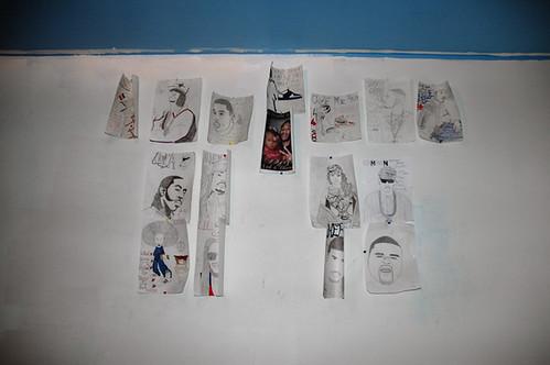 fee fee's wall w her drawings web