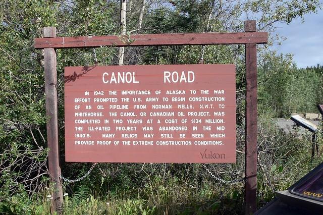 Canol history sign