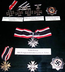 Nazi medals on display in Salzburg, Austria. (violinsoldier) Tags: music sterreich salzburg austria swastika adolfhitler evil classical musik mozart violinist composer geburtshaus wolfgangamadeusmozart nsdap