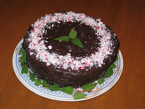 Chocolate mint birthday cake