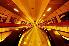 Istanbul Subway (orgutcayli) Tags: yellow train turkey subway interestingness metro escalator transport tunnel istanbul explore taksim orgutcayli turkiye orgutcayl