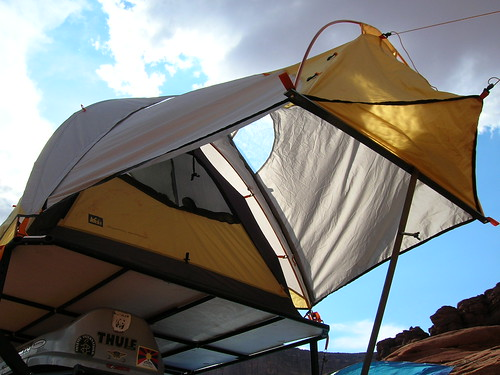 land rover tent camping