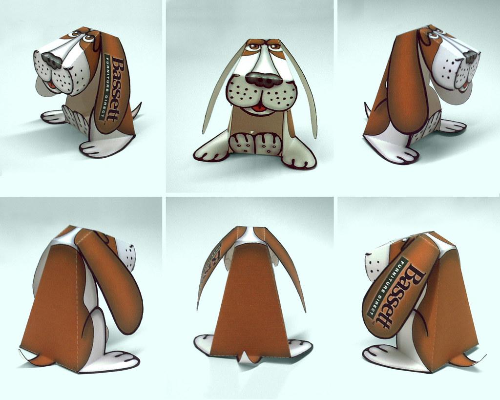 Bassett Hound Dog Model