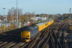 3Z05 37608 Dollands Moor - Derby RTC (Adam McMillan Railway Photography) Tags: 37608 seen approaching tonbridge with 3z05 dollands moor derby rtc europhoenix tractor loco rail test train