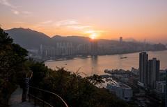 Slow down the pace~ (edward.cheung) Tags: devilpeak yautong hongkong hiking sunset warm victoriaharbor hongkongisland clear sky a7r2 28f20 sony