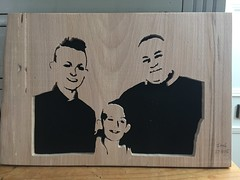 A family Scroll Saw Portrait - Made from Beech