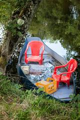 river craft (penwren) Tags: river boat riverbank allier auvergne punt lasioule