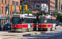 Passing Streetcars (Eridony) Tags: toronto ontario canada downtown publictransit ttc transportation transit masstransit streetcar streetcars